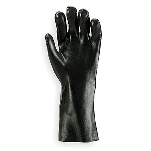 "PVC Rough Coated Black 12"" Glove-Dozen"