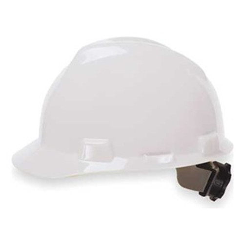MSA V-Gard White Ratchet Hard Hat - 475358