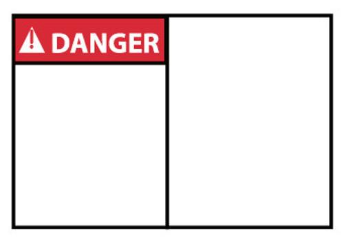 DANGER, BLANK, 3X5, PS VINYL, 5/PK