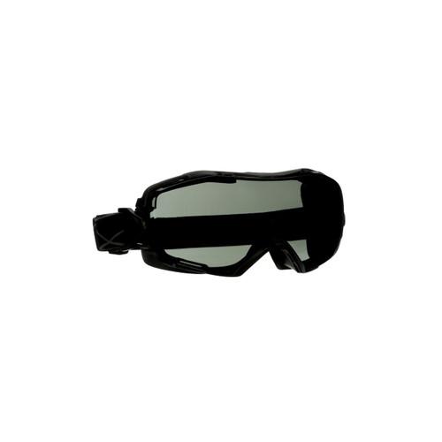 3M GoggleGear 6000 Series GG6002SGAF-BLK Black Shroud Scotchgard Anti-Fog Coating Gray AF-AS Lens 10ea/cs