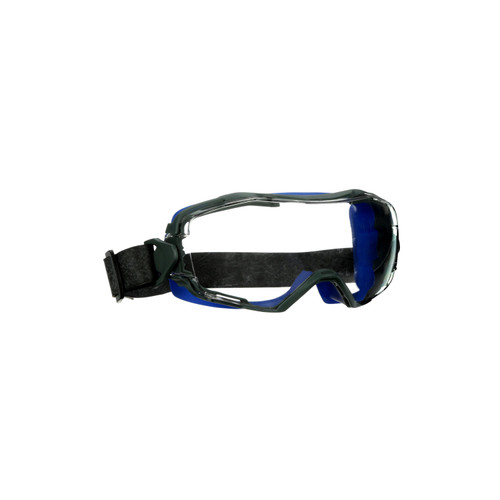 3M GoggleGear 6000 Series GG6001NSGAF-BLU Blue Shroud Neoprene Strap Scotchgard Anti-Fog Coating Clear AF-AS lens 10ea/cs