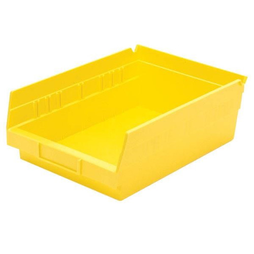 "Akro-Mils® Shelf Bin, 11 5/8""L x 4""H x 8 3/8""W, Yellow"