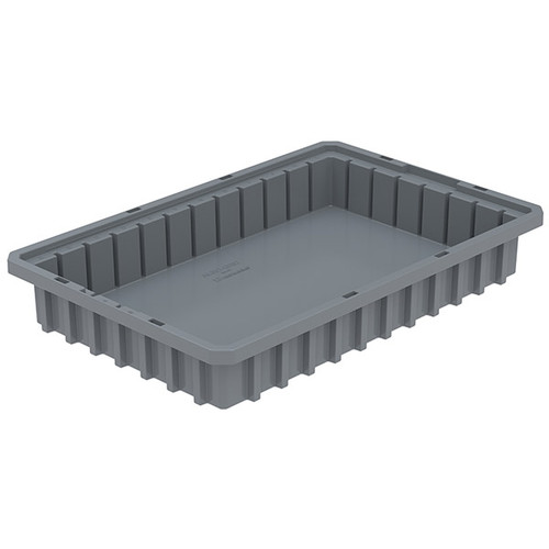 "Akro-Mils® Akro-Grid Dividable Grid Container, 16 1/2""L x 2 1/2""H x 10 7/8""W, Gray"