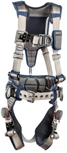 3M DBI-SALA ExoFit STRATA Construction Style Positioning/Climbing Harness 1112542 - Grey - Blue - Large