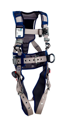 3M DBI-SALA ExoFit STRATA Construction Style Positioning Harness 1112568 - Grey - Blue - X-Large