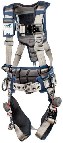 3M DBI-SALA ExoFit STRATA Construction Style Positioning Harness 1112536 - Grey - Blue - Medium