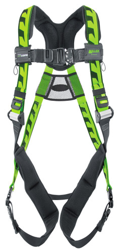 Miller AirCore Aluminum Hardware Green Harness - Universal (Large/XL) - ACA-QC/UGN