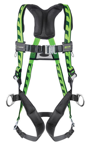 Miller AirCore Steel Hardware Green Harness w/Side D-Rings - Universal (Large/XL) - AC-QC-D/UGN