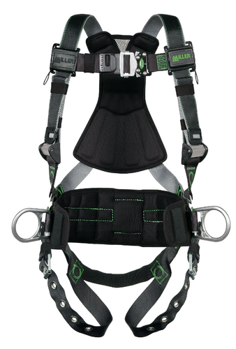 Miller Revolution DualTech Harness with Front & Side D-Rings Tongue Leg Strap - Universal - RDTFD-TB-DP/UBK
