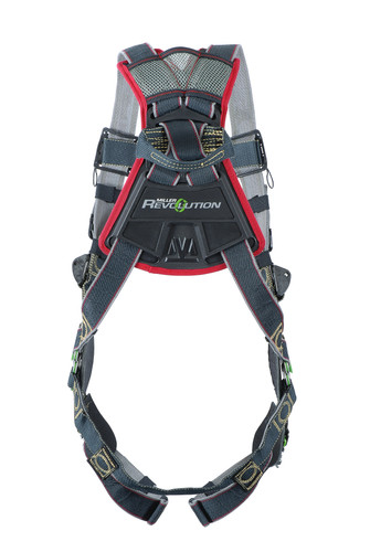 Miller Revolution Arc-Rated Kevlar/Nomex Harness with Front & Side D-Rings Quick-Connect Leg Strap & Belt - 3X - RKNARFDQCBDP/3XLBK