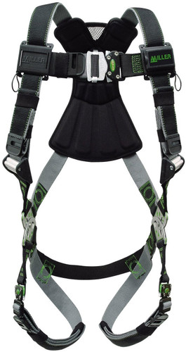 Miller Revolution Kevlar/Nomex Harness with Front D-Ring Quick-Connect Leg Strap - Universal - RKNFD-QC/UBK