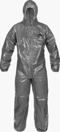Lakeland ChemMax 3 Coverall - Respirator Fit Hood/Double Storm Flap/Elastic Wrists & Ankles - C3T166