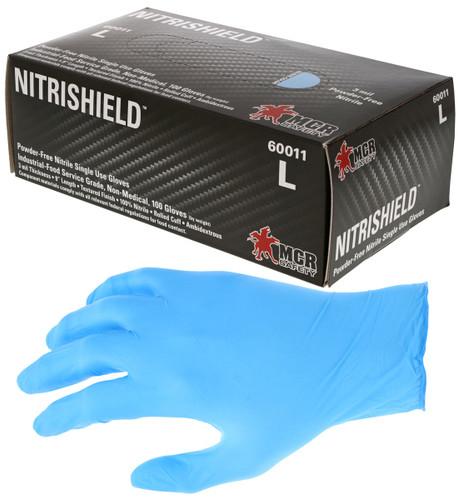 MCR 3 mil Nitrile Textured Grip Powder Free Disposable Glove 60011S - Small - 100/Box