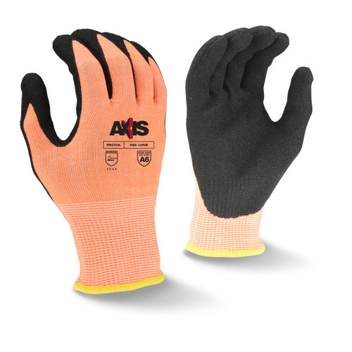 Radians RWG559 AXIS Cut Protection Level A6 Sandy Nitrile Glove - Pair