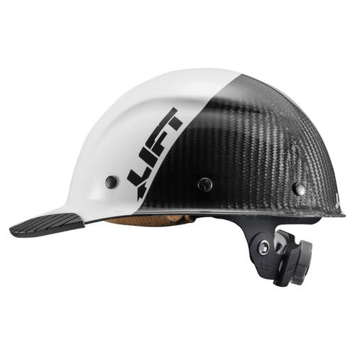 Lift Safety DAX Carbon Fiber Cap Style FIFTY50 - White/Black - HDC50C-19WC