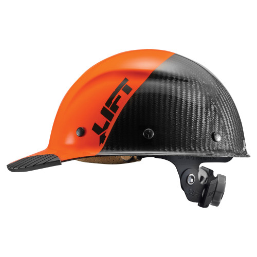 Lift Safety DAX Carbon Fiber Cap Style FIFTY50 - Orange/Black - HDC50C-19OC