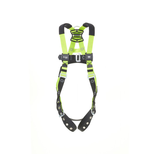 Miller H500 IS1P Steel 1 pt Harness w/Tongue & Chest Mating Buckles w/Shoulder Pads - Size 2XL