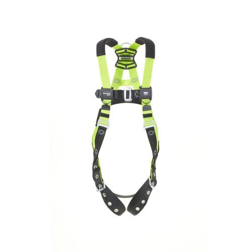 Miller H500 IS8P Steel 1 pt Harness w/Tongue & QC Chest buckle w/Shoulder Pads - Size 2XL