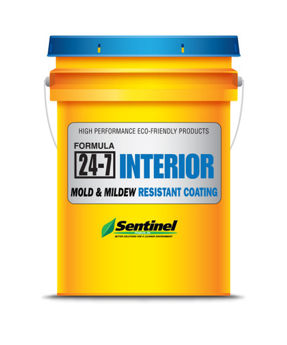 Sentinel 24-7 Clear Interior Mold & Mildew Resistant Coating - 5 Gallon