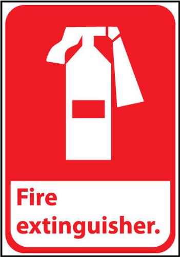 FIRE EXTINGUISHER (W/GRAPHIC), 14X10, .040 ALUM