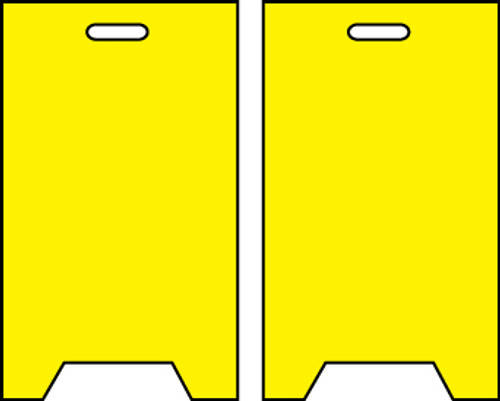 FLOOR SIGN, DBL SIDE, BLANK, YELLOW