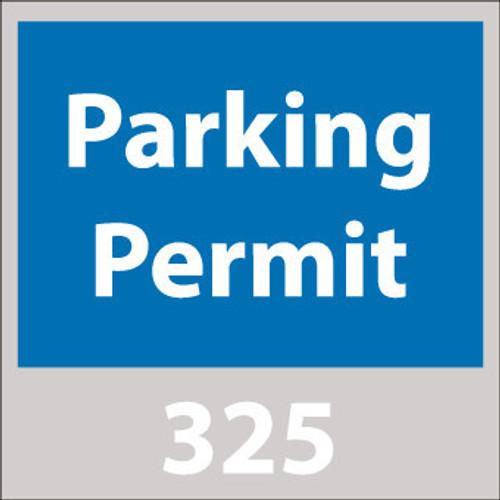 PARKING PERMIT, WINDSHIELD, BLUE, 001-100