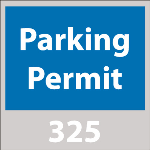 PARKING PERMIT, WINDSHIELD, BLUE, 401-500