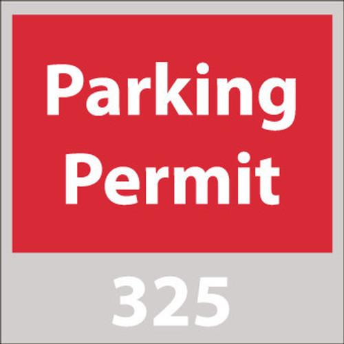 PARKING PERMIT, WINDSHIELD, RED, 201-300