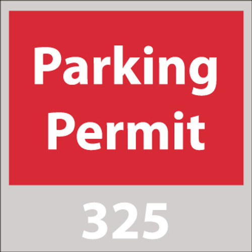PARKING PERMIT, WINDSHIELD, RED, 301-400