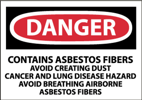LABELS, DANGER CONTAINS ASBESTOS . . ., 3X5, PS PAPER, 500/RL
