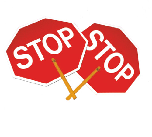 "SAFE-T-PADDLE SIGN, STOP/STOP, 10"" HANDLE"