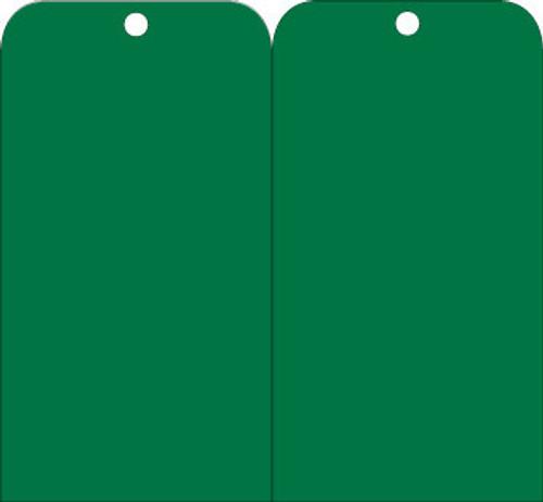 TAGS, GREEN BLANK, 6X3, .015 MIL UNRIP VINYL, 25 PK