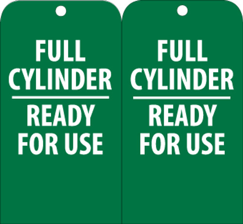 TAGS, FULL CYLINDER READY FOR USE, 6X3, UNRIP VINYL, 25/PK