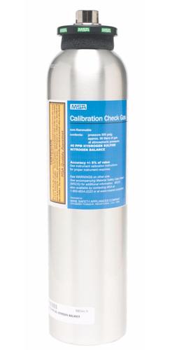 MSA Calibration Gas - 1.45% CH4, 15% o2, 60 ppm CO, 20ppm H2S - 10048280