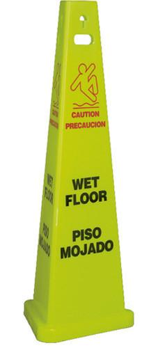 "FLOOR SIGN, WET FLOOR, ENGLISH/SPANISH, 40"" TALL, 3/CS"