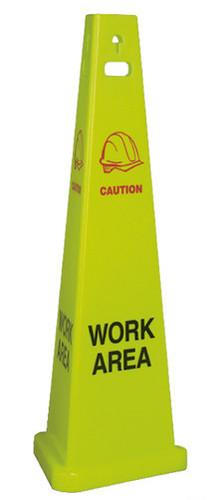 """FLOOR SIGN, WORK AREA, 40"""" TALL, 3/CS"""