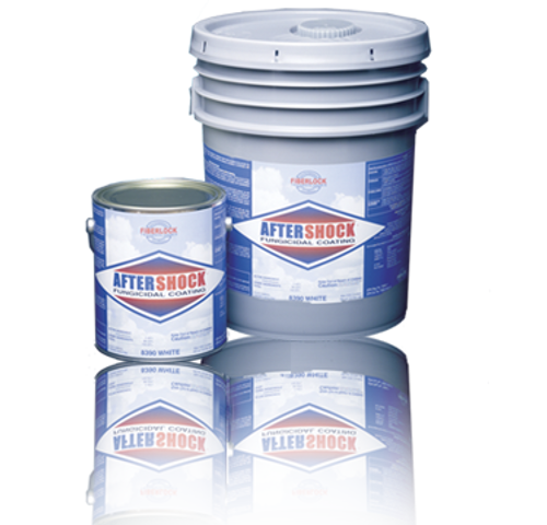 Fiberlock AfterShock Fungicidal Coating - White - 5 Gallon