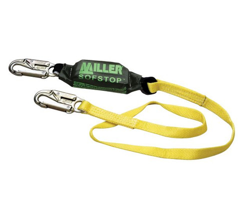 Miller 6-ft Lanyard w/2 Locking Snap Hoooks - 913WLS-Z7/6FTYL