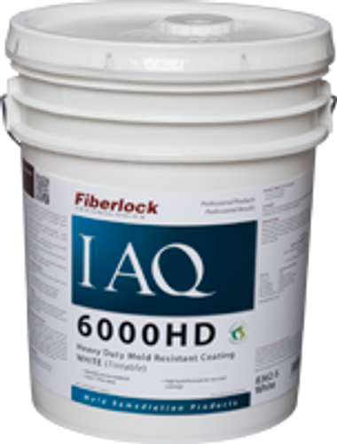 Fiberlock IAQ 6000 HD - Heavy Duty Mold Resistant Coating - 5 Gallon