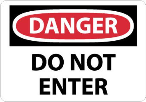 DANGER, DO NOT ENTER, 20X28, RIGID PLASTIC