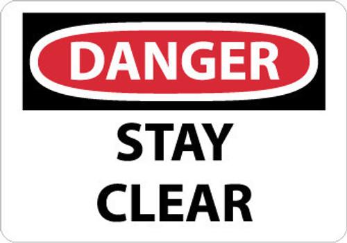 DANGER, STAY CLEAR, 7X10, .040 ALUM