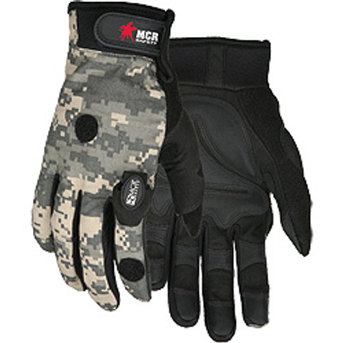 Memphis Wounded Warrier LED Lit Padded Palm Multi-Task Glove - Pair