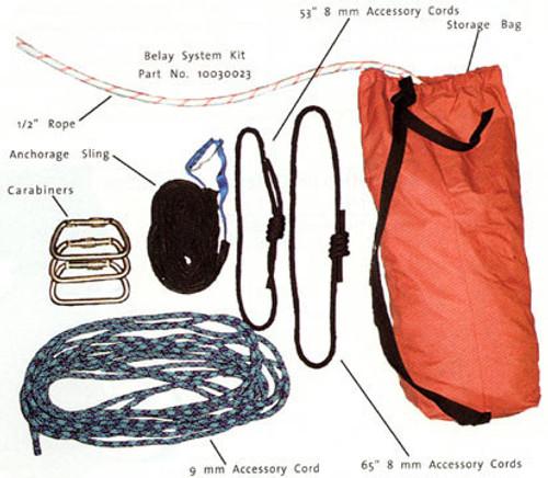 MSA Basic High Angle Rescue Belay System Kit - 10030023