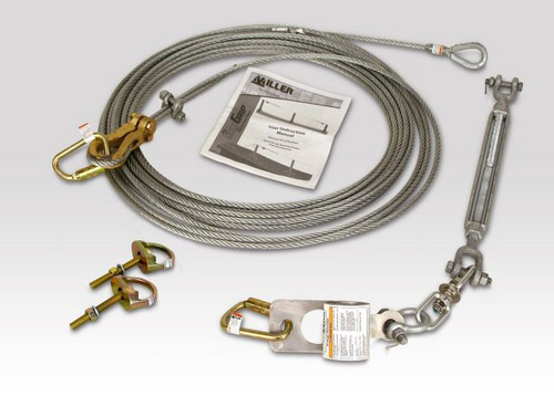 Miller SkyGrip Galvanized Horizontal Lifeline Kit with Anchor Shackles [20FT-240FT]