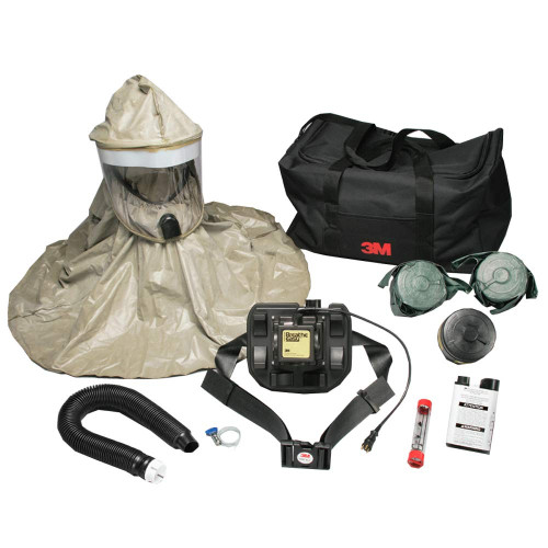 The 3M RBE-L10 CBRN First Responder Hooded PAPR hood powered air purifying respirator system helps provide respiratory protection to first responders, law enforcement, military and health care professionals needing protection from or responding to natural disasters or acts of terrorism.