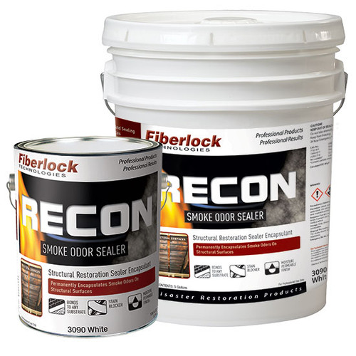 Fiberlock RECON Smoke Odor Sealer 3090 - White - 1 Case (4 Gallons)