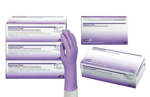 Kimberly-Clark KC500 6 Mil Purple Nitrile Gloves 100/Box