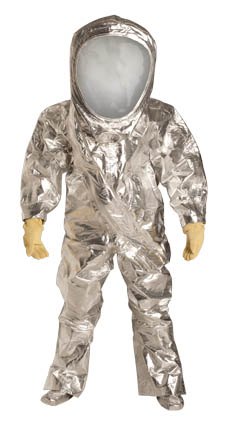DuPont Tychem' 10000 FR Silver Coverall - RF600T SV 7S