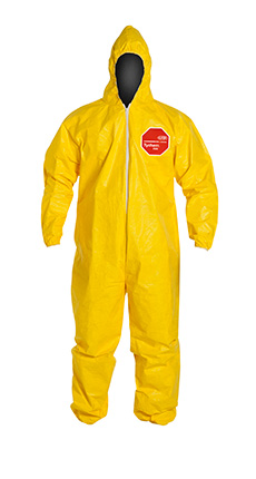 DuPont Tychem' 2000 Yellow Coverall - QC127S YL NF