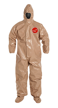 DuPont Tychem' 5000 Tan Coverall - C3128T TN BF